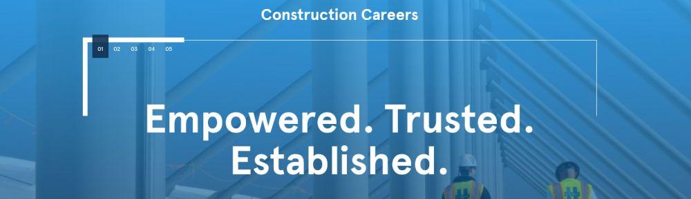 An international construction company's banner