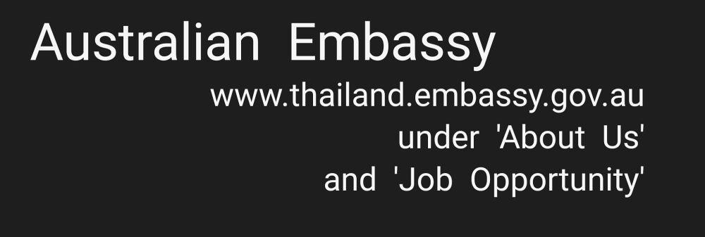 Australian Embassy's banner