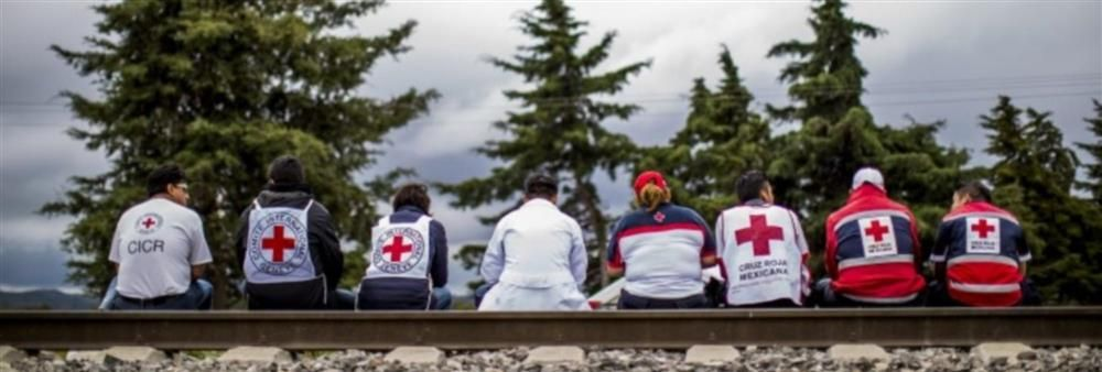 International Committee of the Red Cross (ICRC)'s banner