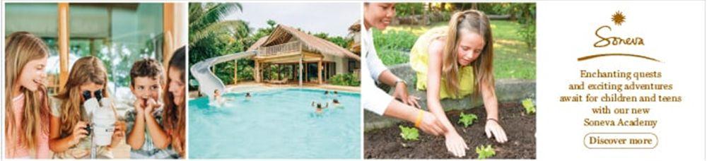 Soneva Kiri Resort's banner
