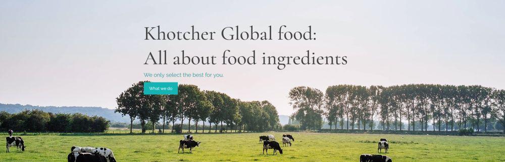 KHOTCHER GLOBAL FOOD CO., LTD.'s banner